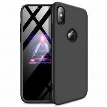 iPhone X / XS 360°-os fekete prémium tok +üvegfólia