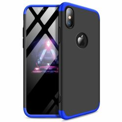 iPhone X / XS 360°-os blue-black tok+üvegfólia