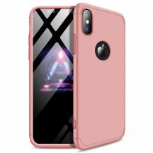 iPhone XS Max 360°-os rosegold, matt tok +üvegfólia