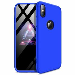 iPhone XR 360°-os kék, matt tok +üvegfólia