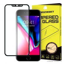 iPhone X extra erős üvegfólia fekete kerettel