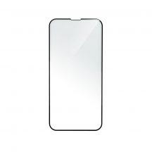 iPhone XR ívelt, erős üvegfólia fekete kerettel