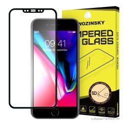 iPhone XS, extra erős üvegfólia fekete kerettel
