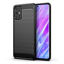 Samsung Galaxy S20 ultra karbonmintás, fekete szilikon tok