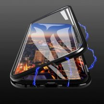 iPhone 11 Pro Max átlátszó mágneses tok mindkét oldalt üveggel