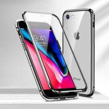 iPhone 7 / 8 / SE 2020 átlátszó mágneses tok mindkét oldalt üveggel