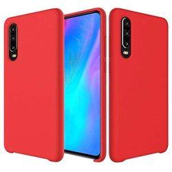 Piros, szilikon Huawei P30 tok