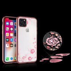 Rosegold, kristály köves iPhone 11 pro tok