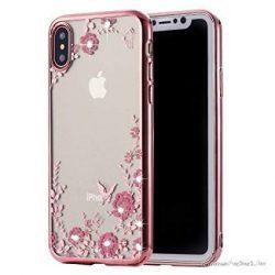 Rosegold, kristály köves iPhone XS Max tok