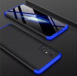 Kék-fekete Samsung Galaxy S20 360 tok +3D kijelzővédő fólia
