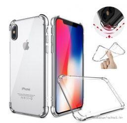 Ütésálló iPhone X / XS átlátszó tok +üvegfólia