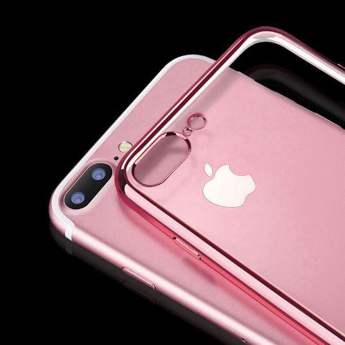 atlatszo iphone tok rosegold