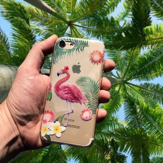 atlatszo flamingos tok