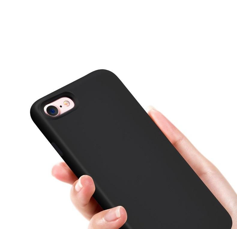 fekete szilikon iphone tok